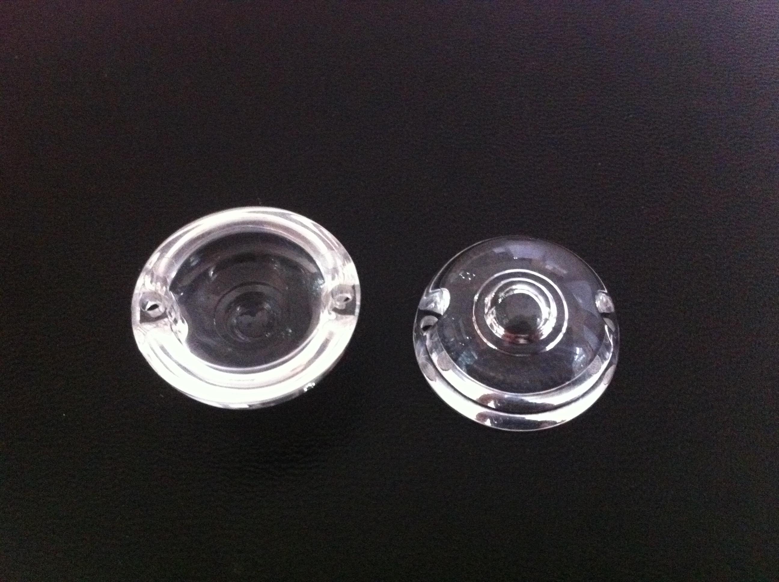 产品标题:led光学透镜,xj-25半圆带孔半圆透镜