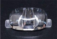 大功率led透镜,仿流明光源透镜,花生米路灯透镜厚