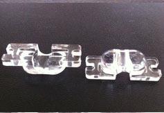 供应led透镜,透镜厂家,花生米路灯透镜u型孔,光学透镜