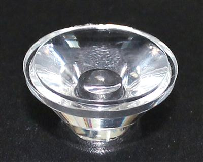 led透镜,大功率led透镜,20mm单粒透镜XJ20-60°光面