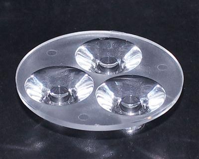 大功率led透镜,连体天花灯透镜,XJ-50-3*1无脚光面
