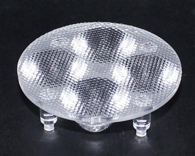 光学透镜,大功率led透镜,连体天花灯透镜,XJ-50-4*1带脚珠面