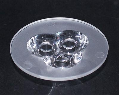 led透镜,大功率透镜,连体天花灯透镜,XJ-43-3合1光面
