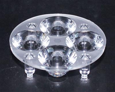 led透镜,大功率光学透镜,透镜,XJ50-4合1带脚光面