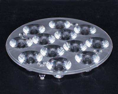 led透镜,大功率透镜,连体透镜,XJ95-12合1-25°带脚光面