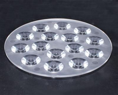 led连体透镜,大功率透镜,天花灯光学透镜批发,XJ110-15合1光面