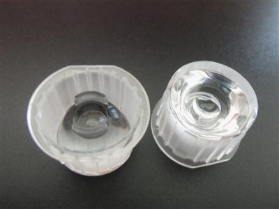 led透镜,大功率led光学透镜,一体防水透镜批发,20带支架有边光面