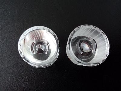 led透镜,大功率透镜,一体防水光面透镜,5°带支架光面